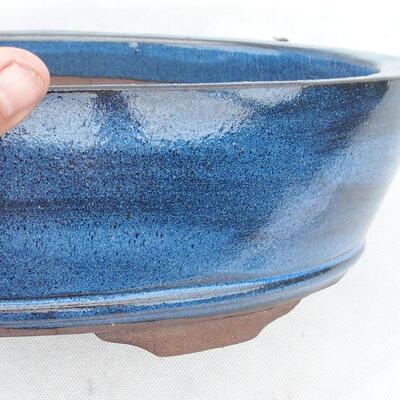 Bonsaischale 30 x 20 x 7 cm, Farbe blau - 2