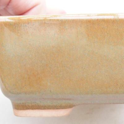 Keramische Bonsai-Schale 14,5 x 11 x 5 cm, braune Farbe - 2