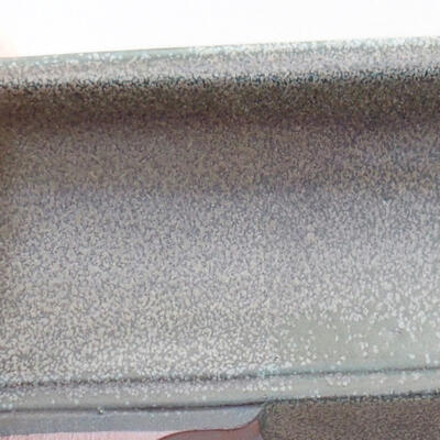Keramische Bonsai-Schale 20 x 15,5 x 6 cm, graue Farbe - 2