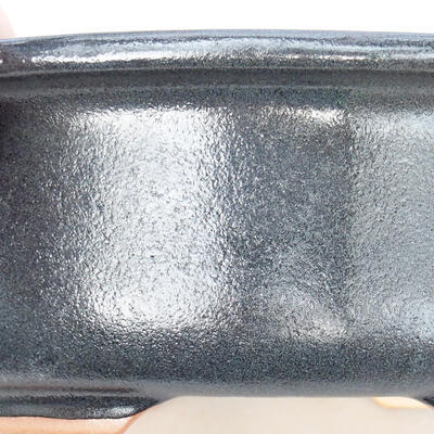 Keramische Bonsai-Schale 22 x 18 x 7,5 cm, graue Farbe - 2