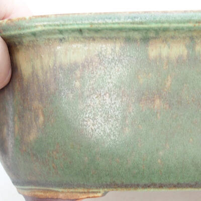 Keramische Bonsai-Schale 21,5 x 16,5 x 7 cm, Farbe grün - 2