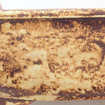 Keramische Bonsai-Schale 23,5 x 20 x 7 cm, gelbbraune Farbe - 2