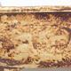 Keramische Bonsai-Schale 23,5 x 20 x 7 cm, gelbbraune Farbe - 2/3