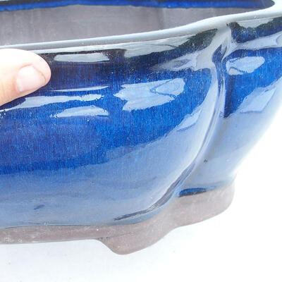 Bonsaischale 41 x 33 x 15 cm, Farbe blau - 2