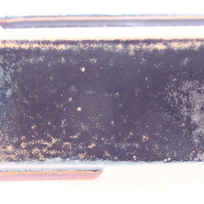 Keramische Bonsai-Schale 25 x 19,5 x 6,5 cm, Farbe schwarzbraun - 2
