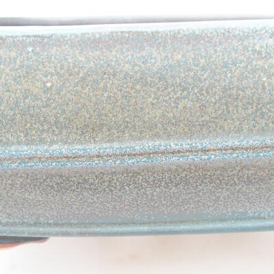 Keramische Bonsai-Schale 24 x 19 x 7 cm, graue Farbe - 2