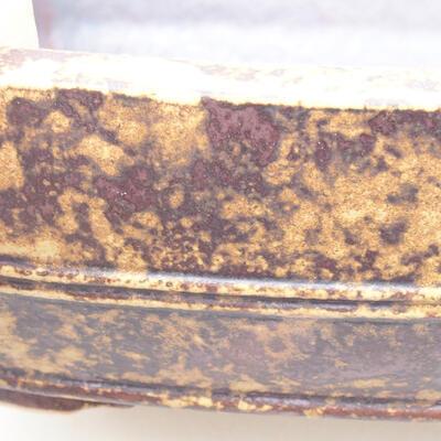 Keramische Bonsai-Schale 24 x 19 x 7 cm, Farbe gelbbraun - 2
