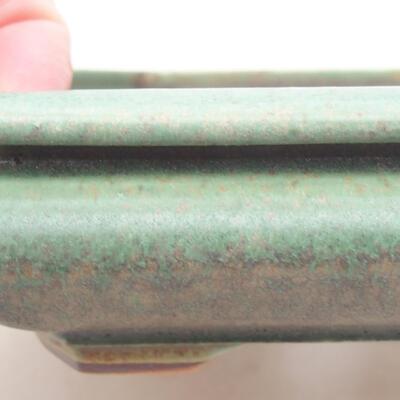 Keramische Bonsai-Schale 18 x 16 x 3,5 cm, Farbe grün - 2