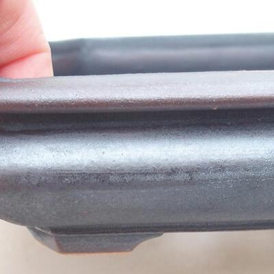 Keramische Bonsai-Schale 18 x 16 x 3,5 cm, Metallfarbe - 2