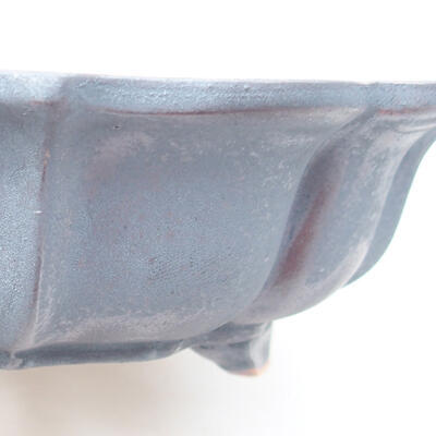 Keramische Bonsai-Schale 17 x 17 x 4,5 cm, Metallfarbe - 2