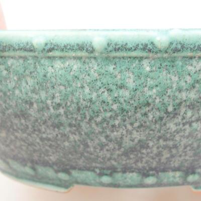 Keramische Bonsai-Schale 17 x 17 x 4,5 cm, Farbe grün - 2