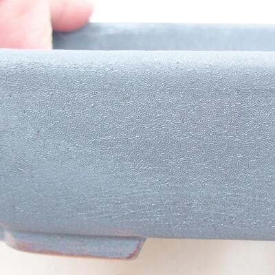 Keramische Bonsai-Schale 15 x 11,5 x 4 cm, Metallfarbe - 2