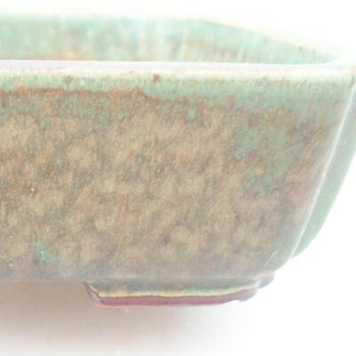 Keramische Bonsai-Schale 15 x 11,5 x 4 cm, Farbe grün - 2