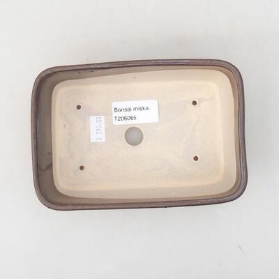 Keramische Bonsai-Schale 15,5 x 10,5 x 5 cm, braune Farbe - 2