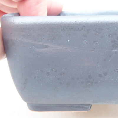 Keramische Bonsai-Schale 15,5 x 10,5 x 5 cm, Metallfarbe - 2
