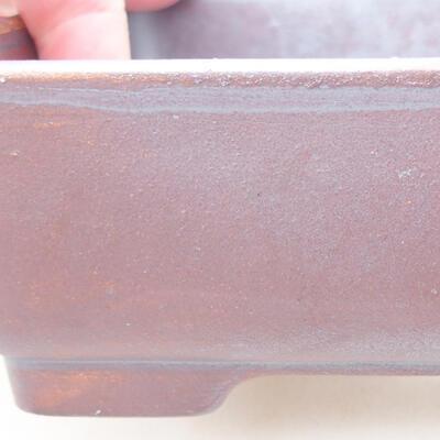 Keramische Bonsai-Schale 14,5 x 11,5 x 4,5 cm, graue Farbe - 2