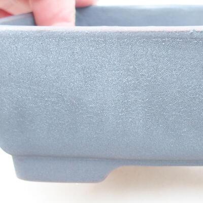 Keramische Bonsai-Schale 14,5 x 11,5 x 4,5 cm, Metallfarbe - 2