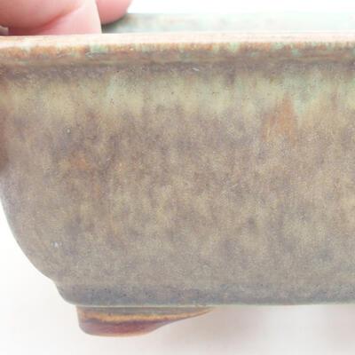 Keramische Bonsai-Schale 13 x 10 x 5 cm, Farbe grün - 2