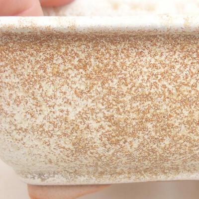 Keramische Bonsai-Schale 13 x 10 x 5 cm, beige Farbe - 2