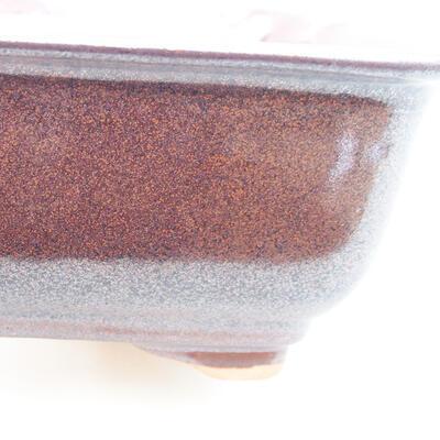 Keramische Bonsai-Schale 13 x 10 x 5 cm, braune Farbe - 2