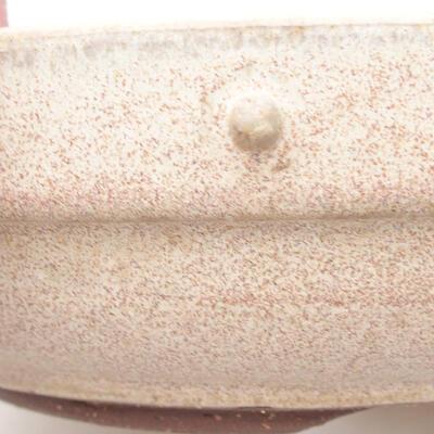 Keramische Bonsai-Schale 19,5 x 19,5 x 5,5 cm, beige Farbe - 2