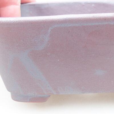 Keramische Bonsai-Schale 13 x 10 x 5,5 cm, graue Farbe - 2