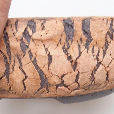Keramische Bonsai-Schale 18 x 18 x 6 cm, Farbe rissig - 2