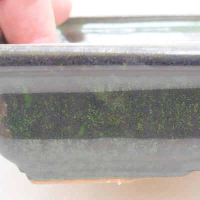 Keramische Bonsai-Schale 17 x 12,5 x 3,5 cm, Farbe grün - 2