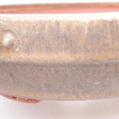 Keramische Bonsai-Schale 19 x 19 x 5,5 cm, braune Farbe - 2