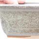 Keramische Bonsai-Schale 16,5 x 11 x 5 cm, Farbe braun-grün - 2/3