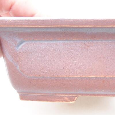 Keramische Bonsai-Schale 16,5 x 11 x 5 cm, Metallfarbe - 2