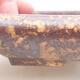Keramische Bonsai-Schale 16 x 12,5 x 3 cm, Farbe braun-gelb - 2/3