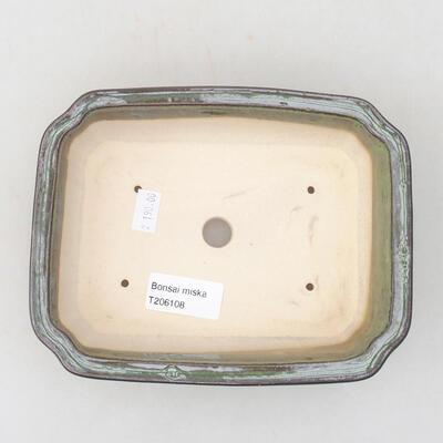 Keramische Bonsai-Schale 17 x 13 x 4,5 cm, Farbe grün - 2