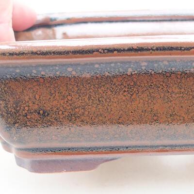 Keramische Bonsai-Schale 17 x 13 x 4,5 cm, braune Farbe - 2