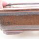 Keramische Bonsai-Schale 17 x 13 x 4,5 cm, braune Farbe - 2/3