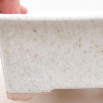 Keramische Bonsai-Schale 17,5 x 14 x 7 cm, weiße Farbe - 2