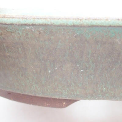 Keramische Bonsai-Schale 20 x 20 x 4,5 cm, Farbe grün - 2