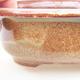 Keramische Bonsai-Schale 14 x 11 x 5 cm, Farbe braun - 2/3