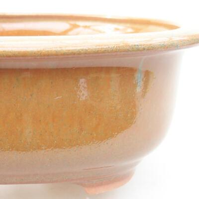 Keramische Bonsai-Schale 14 x 11 x 5 cm, Farbe braun - 2