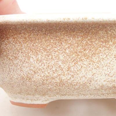 Keramische Bonsai-Schale 14 x 11 x 5 cm, beige Farbe - 2