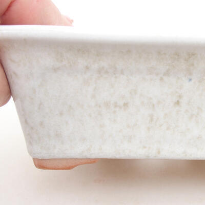 Keramische Bonsai-Schale 13 x 10 x 5 cm, weiße Farbe - 2