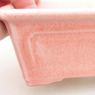 Keramik Bonsai Schüssel 13 x 10 x 5 cm, Farbe rosa - 2