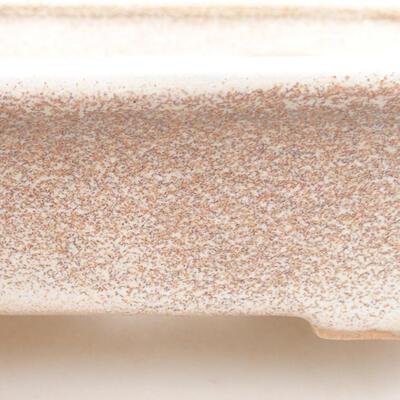 Keramische Bonsai-Schale 12,5 x 10 x 4 cm, beige Farbe - 2