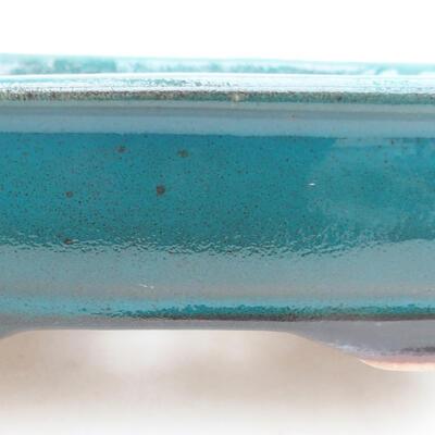 Keramische Bonsai-Schale 15 x 12 x 4 cm, Farbe grün - 2