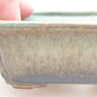 Keramische Bonsai-Schale 12 x 9,5 x 4 cm, Farbe grün - 2