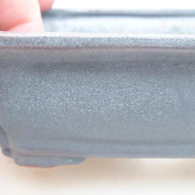 Keramische Bonsai-Schale 12 x 9,5 x 4 cm, Metallfarbe - 2