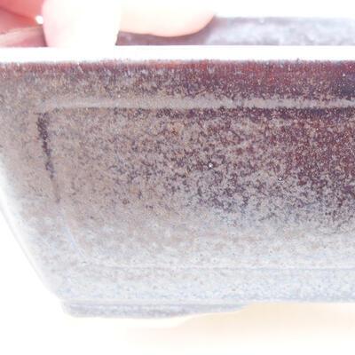 Keramische Bonsai-Schale 15 x 11,5 x 5,5 cm, braune Farbe - 2