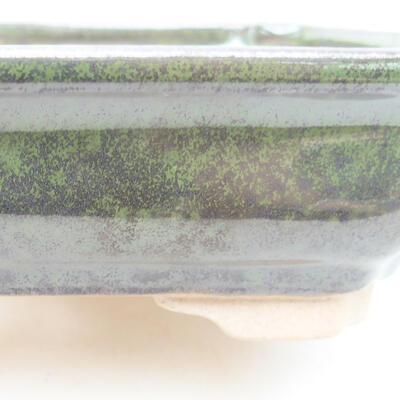Keramische Bonsai-Schale 13 x 9,5 x 3,5 cm, Farbe grün - 2