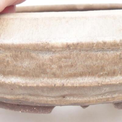 Keramische Bonsai-Schale 17,5 x 17,5 x 6 cm, braune Farbe - 2
