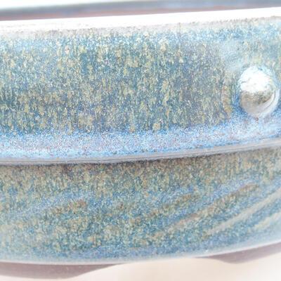 Keramische Bonsai-Schale 18 x 18 x 5,5 cm, Farbe blau - 2